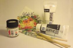 Материалы и инструменты для декорирования стола