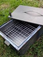 Как сделать коптильню горячего копчения?