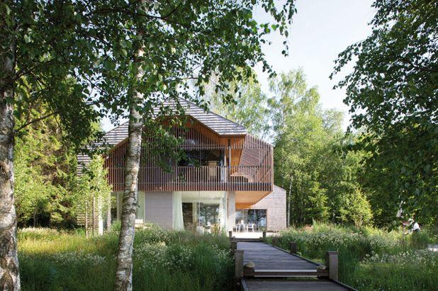 Современный Фасад дома by Stephan Maria Lang Architektur