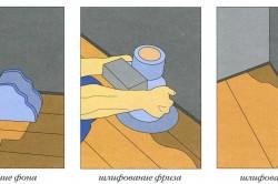 Схема шлифовки деревянного пола