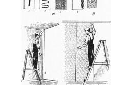 Схема ручного намазывания и наклеивания обоев