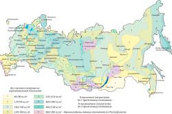 Карта снеговых нагрузок России