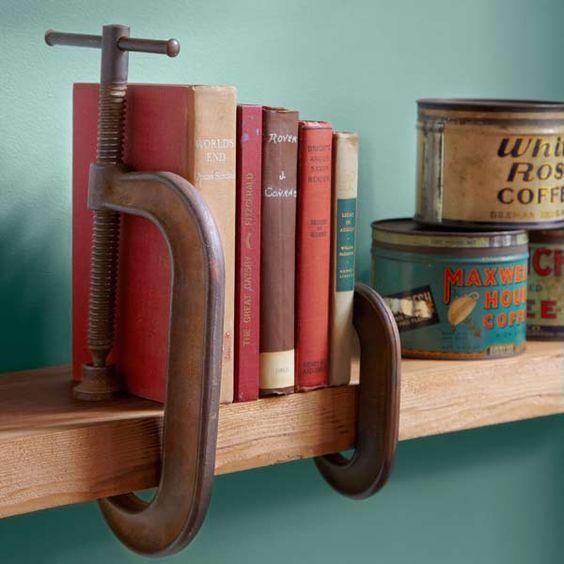 держатель книг для полки