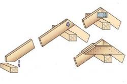 Схема узла крепления стропил на ползуне