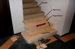Обшивка лестничных ступеней