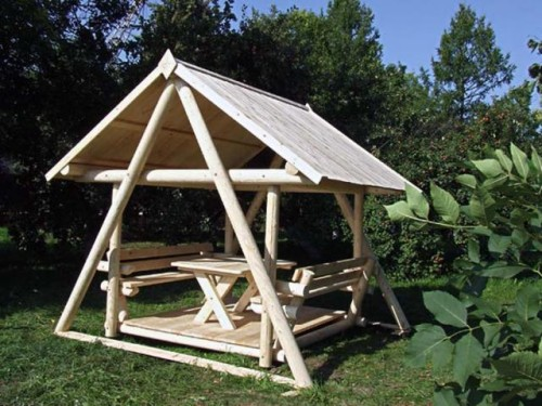 Строим садовые беседки для дачи. Беседка на даче своими руками. Беседка на даче своими руками