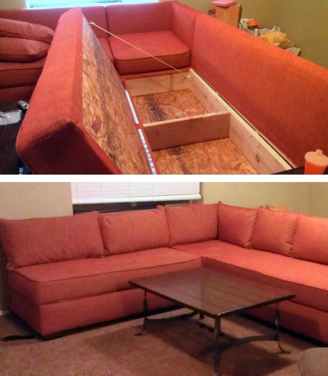 Чехол и подушки дивана