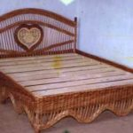 Плетеная кровать в интерьере