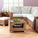 Для стиля эко плетённая мебель будет весьма актуальной