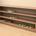 Простая самодельная полка для обуви