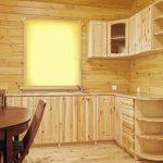 Простая красивая кухня из дерева своими руками