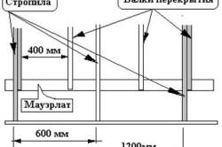 Схема конструкции стропильного каркаса крыши